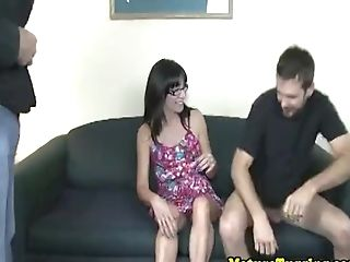 Spex Stepmom Jerking Dicks In Threesome