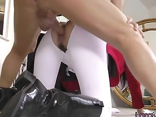 Doggystyled Euro Matures Blows Hard Penis