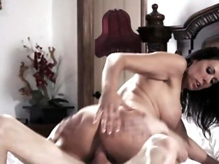 Spunky Mummy Lovemaking With A Beautiful Huge-boobed Dark-haired
