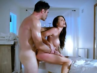 A Dark-haired School Woman With A Wonderful Rack Is Providing A Bj