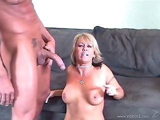 Hot Cougar In Sexy Underpants Yells As She Gets Hammered