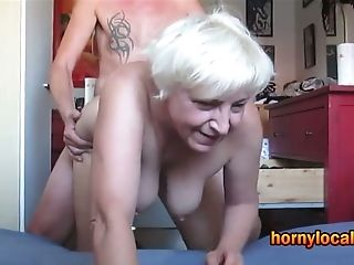 German Granny Toughly Fucked Doggystyle