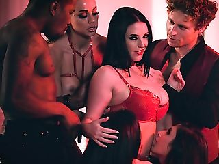 Just Xxx Vid With Truly Sexy Big-boobed Dark-haired Cougar Who...