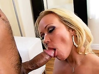Curvy Blonde Cougar Gets Fucked By A Hard Asian Hard-on