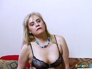 Matures Perverted Blondie Plays With Her Big Titties As Briefly As...