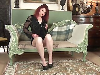 Crimson Haired Matures Woman Cee Cee Is Playing With Her Old...