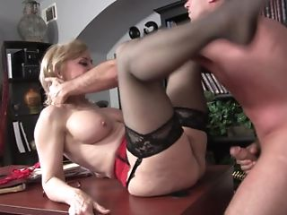 A Matures Woman Is Getting Penetrated By Her Stepson On The Desk