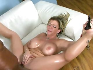 A Huge-boobed Harlot That Loves Black Hard-on Is Getting A Big...