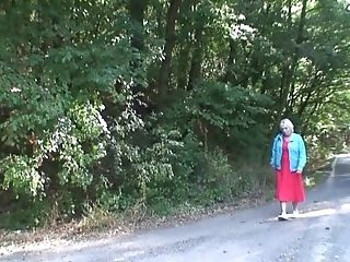 Hitchhiking Hot Blonde Granny Picked Up And Rear End-fucked...