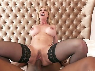 Dark-hued Rasta Banged Hot Mummy Brandi Love On The Sofa