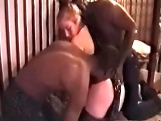 Cheating Mummy Taped By Submissive With Two Big Black Cock Bulls...