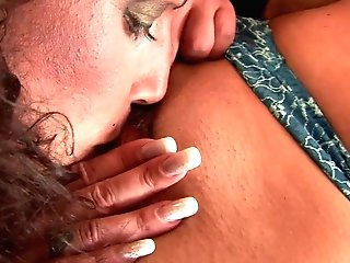 Girl-on-girl Mummies Have Xxx Gobble Session On The Couch