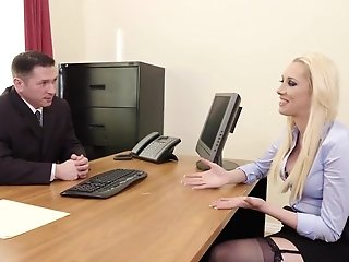 Roxy Flashes Her Talents In Job Interview