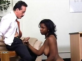 Black Chick Gets Fucked By Predominant Woman And A Fellow