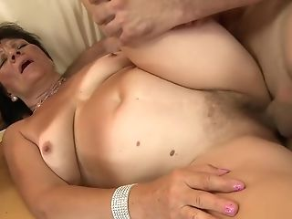 Chesty Dark Haired Matures Helena Invites A Youthfull Man To...