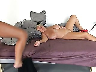Matures Chubby Oldie Gets Her Greedy Twat Frigged And Tongued By...