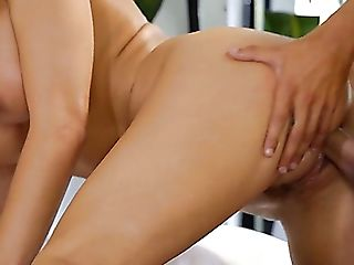 Sexually Aroused Stud Wakes Up His Charming Buxomy Honey Katie...