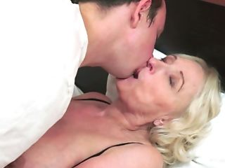 Supah Hot Blonde Granny With Immense Naturals Gets Ravaged By A Stud