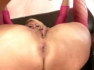 Blonde Mummy In Pink Fishnets Getting Rammed Xxx