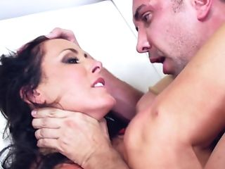 A Dark Haired With Large Tits Is Getting Her Humid Snatch Gobbled...