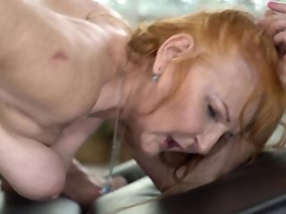 The Filthy Grannie Is Getting Banged By A Youthful Lump Of Meat