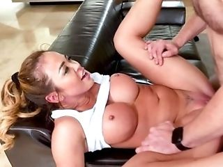 Huge-chested Blonde With Big Booty Is Banging One Lucky Stud