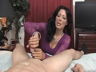 Home Unexperienced Vid Of Sexy Wifey In Stockings Providing A Hand...