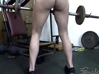 Matures Blonde Gets Groped In The Gym. Loves It.