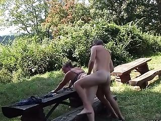 Horny Wifey Dicked Outdoors