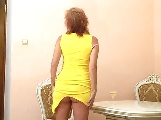 Older Blondie Housewife Silvia Can't Manage Her Libido And...