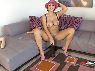 Deviant And Supah Buxom Mummy Playing With An Enormous Fuck Stick