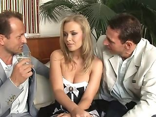 Parent Shares With Sonny Fuck Blonde Maid On The Sofa