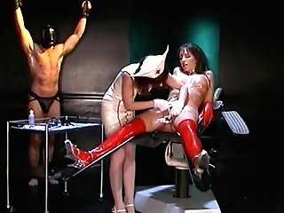 Mistress Nurse Stuffs Fuck Stick Up Brunettes Cock-squeezing Cooch