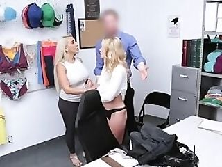 Huge-chested Blonde Shoplifters Penalize Fucked By A Lp Officer