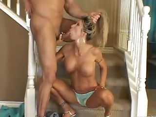 Matures Fuck-fest-thirsty Duo Is Having Banging Date On The Stairs