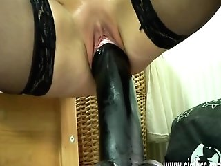 Gigantic Fuck Stick Fucking Matures Ash-blonde Cougar