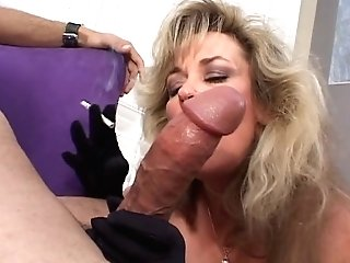 Cougar Mega-bitch Takes Deep-throats A Dude Off