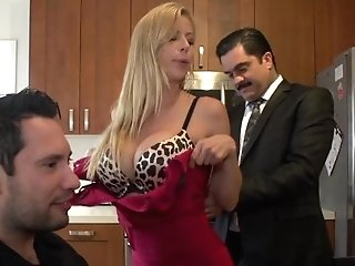 Trampy Cougar Alexis Fawx Hot For Hubbies Employee!