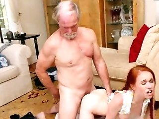 Old Man Youthfull Blonde Couch Online Hook-up