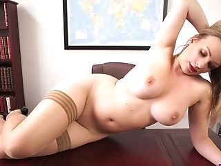 Sex-positive Assistant With Big Boobies Penny L Gets Naked In The...