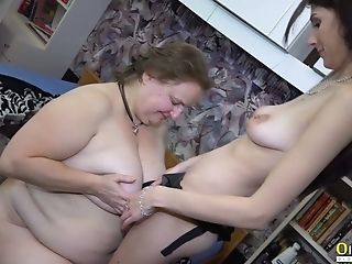 Oldnanny Old And Youthfull Lesbos Equipment Fucking