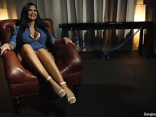Huge-titted English Honey Gets Gang-fucked