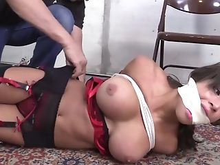 Hot Honey In Underwear - Restraint Bondage Porno Movie