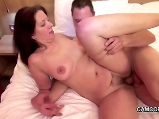 Hot Mom Entice Her Step-Son to Fuck when Dad is away
