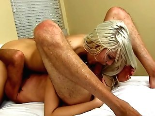 Blonde Nubile Ashley Buries Her Toung In Not  Stepdads Asshole