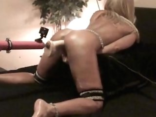 """First-timer Blonde Fucks """"stryker"""" Fake Penis And Vibe..."""