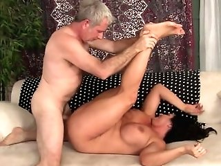 Matures Dark-haired Takes Fat Dick