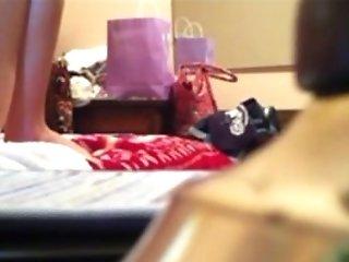 My Finger-tickling Step Mom On Hidden Camera