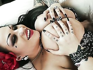 Giant Jugged Voluptuous Biotch Samantha Mack Gets Poked In Spoon Pose