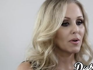 Cougar Julia Ann Opened Up With Interracial Banging